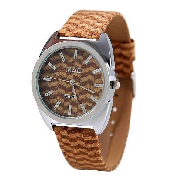 Corked Stripe Watch,Watches,Mad Style, by Mad Style
