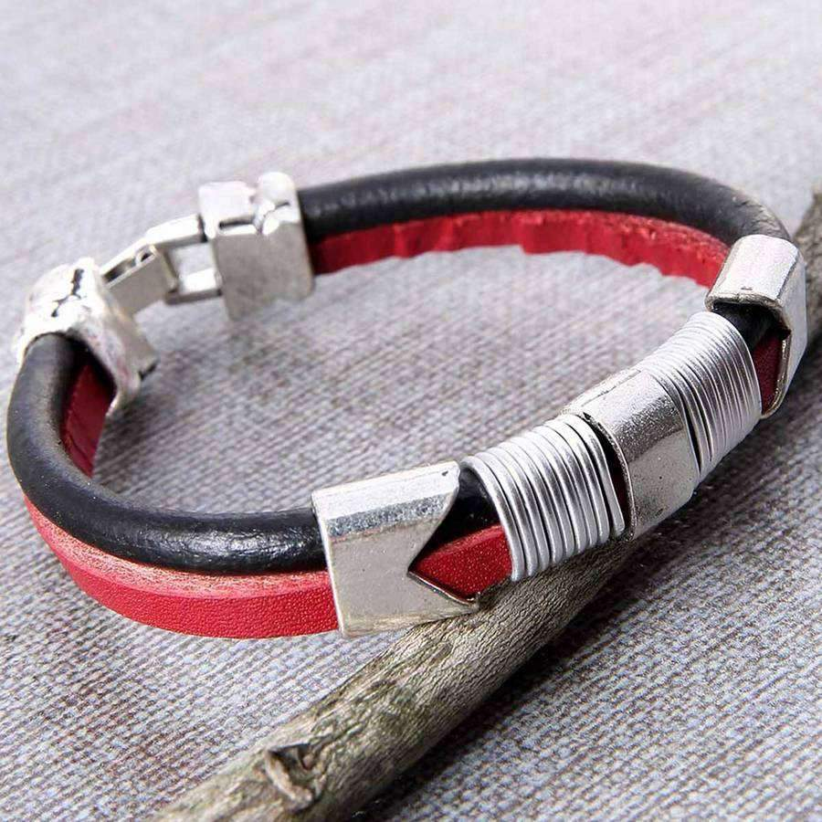 Denali Leather Men's Bracelet,Jewelry,Mad Man, by Mad Style