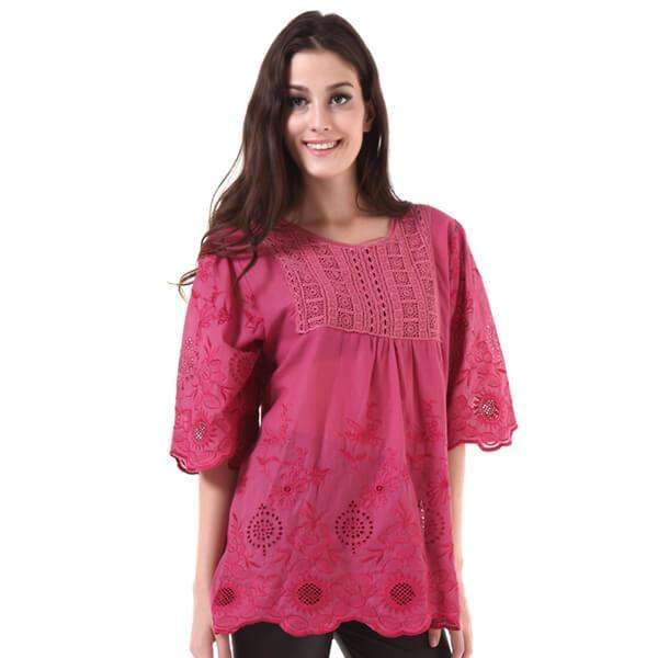 Embroider Prairie Blouse,Tops,Mad Style, by Mad Style