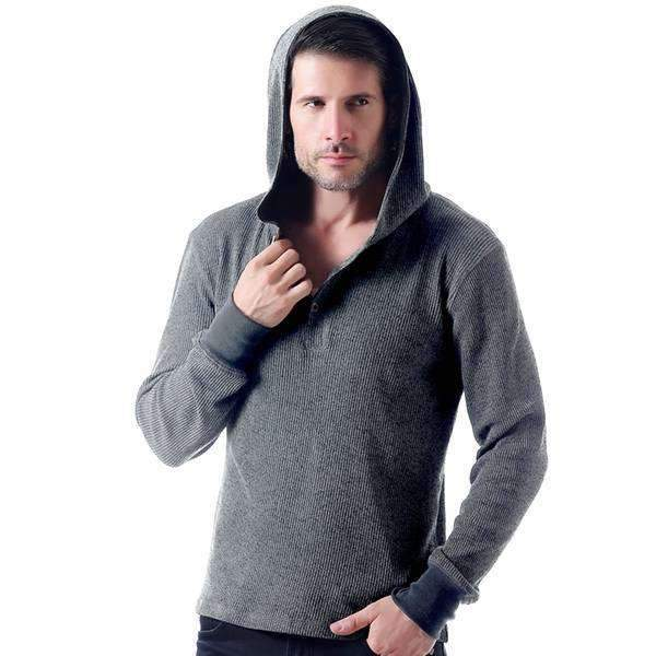 Mad Hooded Henley Shirt