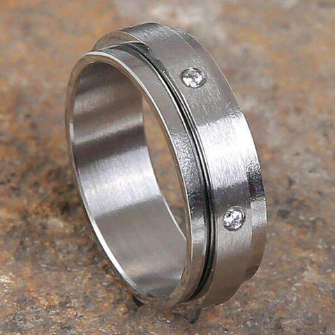 Mad Man Bolton Stainless Ring