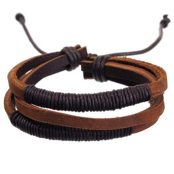 Mad Man Leather Bracelet,Jewelry,Mad Man, by Mad Style