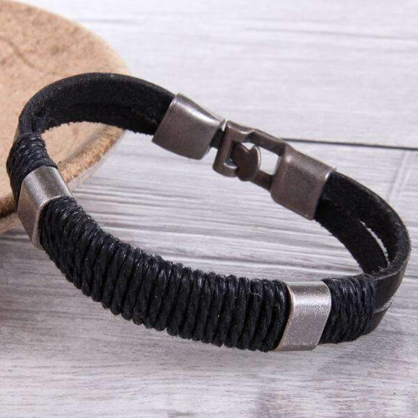 Mad Man Nantucket Leather Bracelets