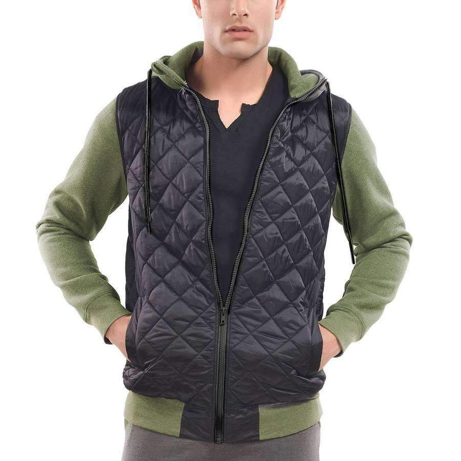 Men's Quilted Hoodie,Apparel,Mad Man, by Mad Style
