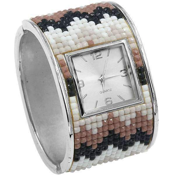 Mosaic Hinged Cuff Watch,Watches,Mad Style, by Mad Style