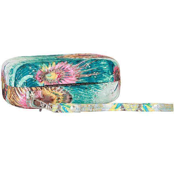 Painted Peacock Glasses Case