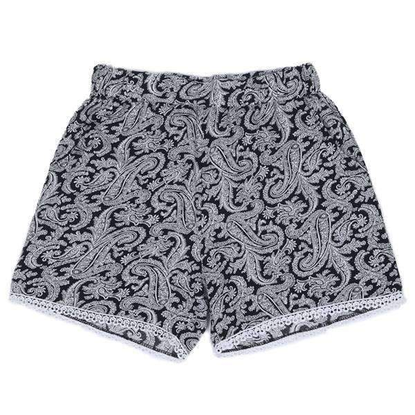 Paisley Lace Bottom Shorts,Bottoms,Mad Style, by Mad Style