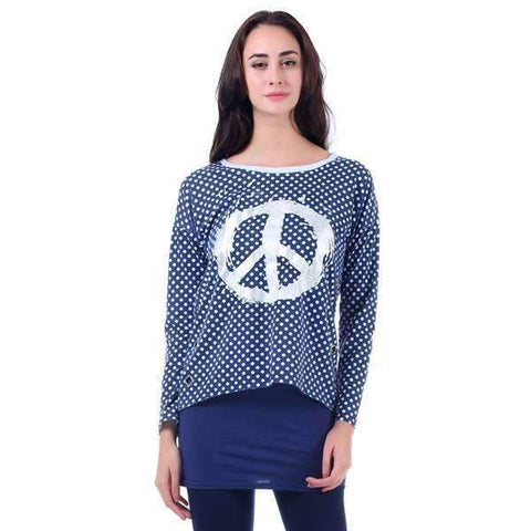 Peace & Polka Dots Blouse