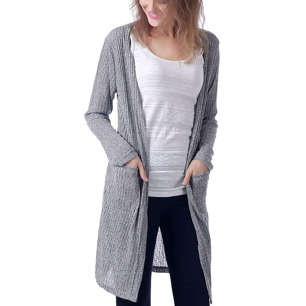 Pocket Long Cardigan,Outerwear,Mad Style, by Mad Style
