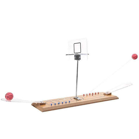 Wooden Dual Basketball Hoop Game
