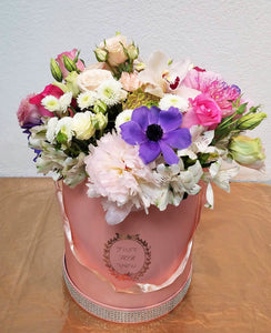 JF138- Large Pink Box with Flowers