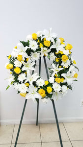 JF204- Medium Funeral Wreath