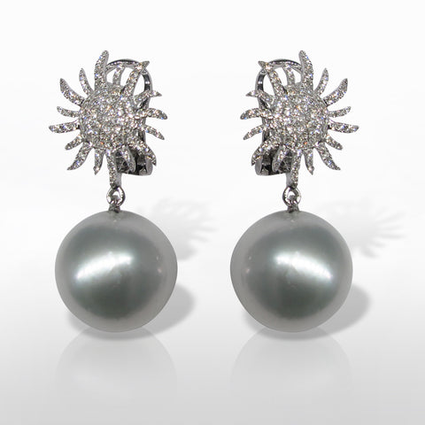 White South Sea Pearl Earring by Marina D