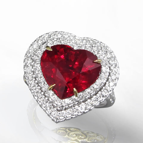 Marina D Fine Ruby & Diamond Heart Ring