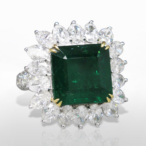A Fine Emerald & Diamond Ring by Marina D