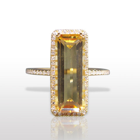 Citrine & Diamond Ring by Marina D