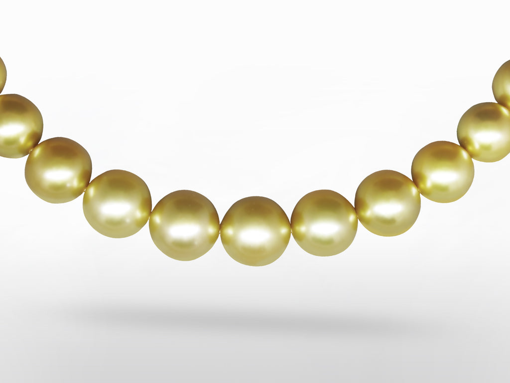 SKU 003-17494 - A Natural Golden South Sea Pearl Necklace