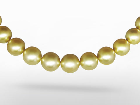 A Natural Golden South Sea Pearl Necklace