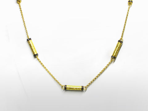 SKU 173-113 - Yellow Gold & Diamond Sautoir Necklace by Kurtulan