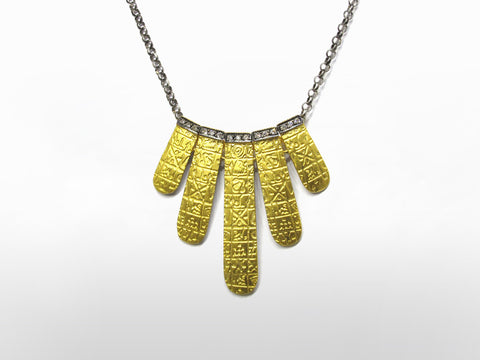 SKU 173-128A - Yellow Gold & Diamond Pendent by Kurtulan