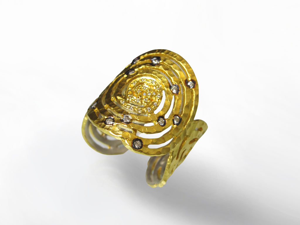 Yellow Gold and Diamond Ring by Kurtulan SKU 173-158