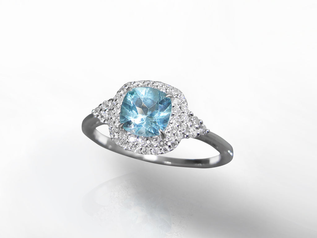SKU 273-15596 - Apatite & Diamond Ring