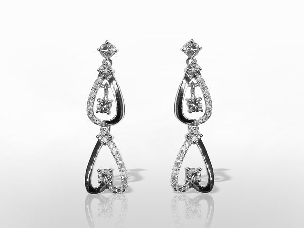 SKU 280-15403 - 14K Diamond Earrings