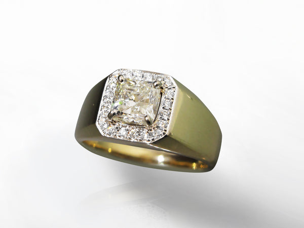 SKU 280-15546 - 14K Gold Men's Canadian Diamond Ring