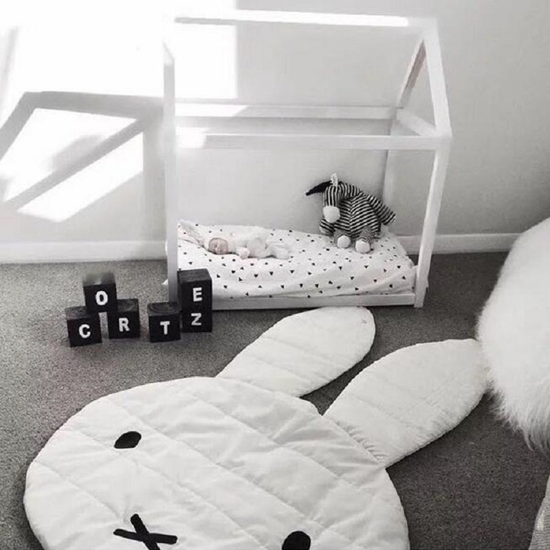 Bunny Shaped Organic Cotton Crawling Blanket