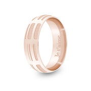 6mm Rose Gold Half-Round DNA Ring