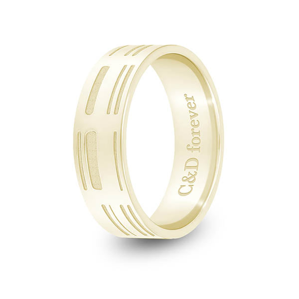 6mm Yellow Gold Flat DNA Ring