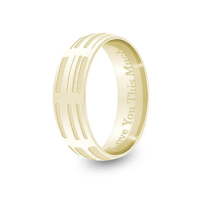 6mm Yellow Gold Half-Round DNA Ring