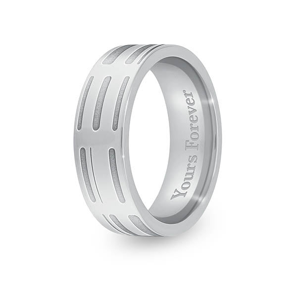 7mm Stainless Steel Flat DNA Ring