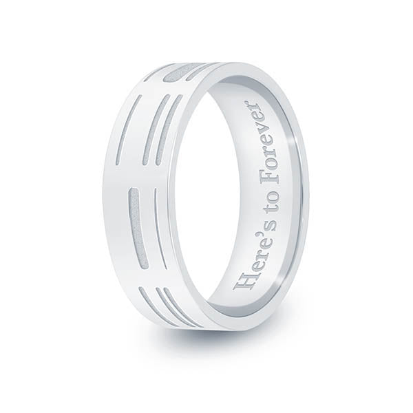 6mm Sterling Silver Flat DNA Ring