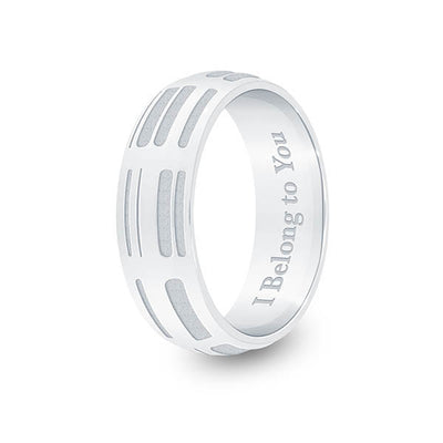 6mm Sterling Silver Half-Round DNA Ring