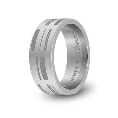 8mm Titanium Flat DNA Ring