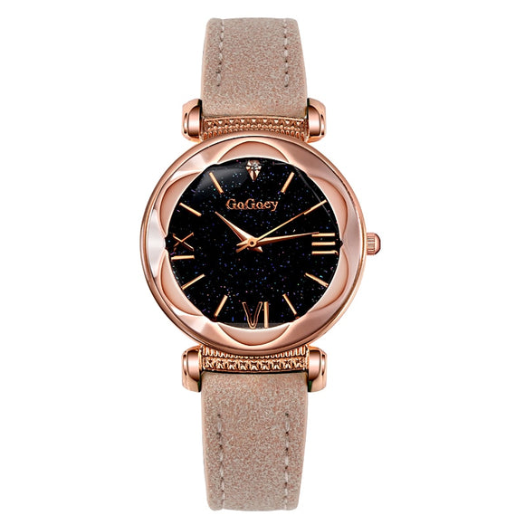 2018 Luxury Brand Gogoey Watch Women Watches Starry Sky Watch Rose Gold Women's Watches Montre Femme Clock Relogio Feminino