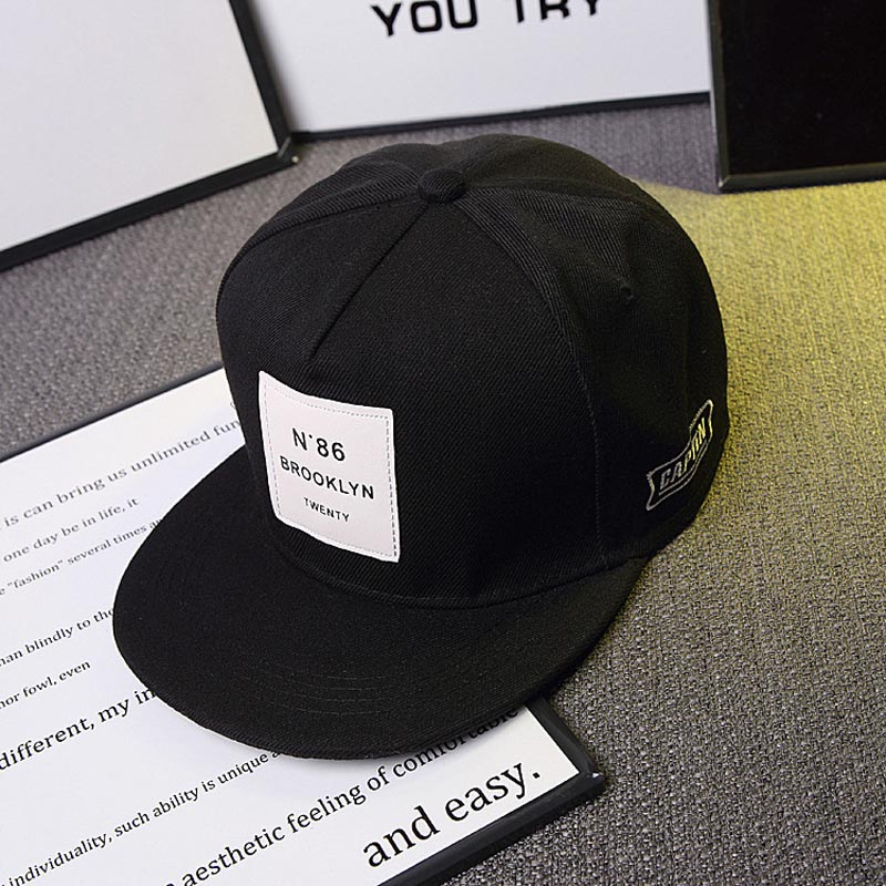 4262abe350cdb ... 2019 New Men Womens BROOKLYN Letters Solid Color Patch Baseball Cap Hip  Hop Caps Leather Sun ...
