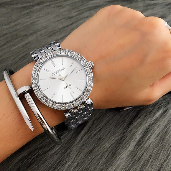 CONTENA Fashion Silver Wrist Watch Women Watches Bracelet Women's Watches Ladies Watch Women Clock zegarek damski reloj mujer