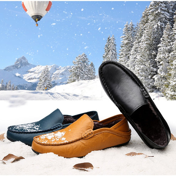 Casual Driving Shoes Men Genuine Leather Loafers Men Shoes Winter Men Loafers Luxury Brand Flats Shoes Men Chaussure Breathable