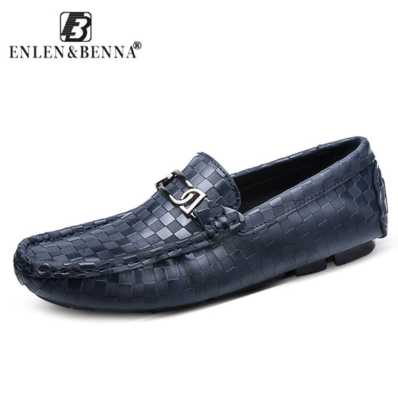 Causal Men Shoes Slip-On Spring and Autumn Comfortable Loafers Quality Split Leather Flats Hot Sell Moccasin Zapatos Chaussure