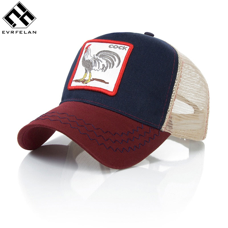 dd31541da Evrfelan Fashion Animals Embroidery Baseball Caps Men Women Snapback Hip  Hop Hat Summer Breathable Mesh Sun Gorras Unisex