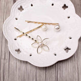 1Set=3pcs New 2019 Gold Plated Leaves Pearl Barrette Wedding Bridal Hairpins Hair Clip Romantic Hair Accessories Jewelry