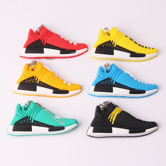 New Mini Silicone PHARRELL Keychain Bag Charm Woman Key Ring Gifts Sneaker Accessories Jordan Shoes Key Chain Porte Clef