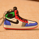 New Color Mini Silicone Jordan 1 Keychain Woman Bag Charm Men Kids Key Ring Gifts Sneaker Accessories Shoes Key Chain Porte Clef