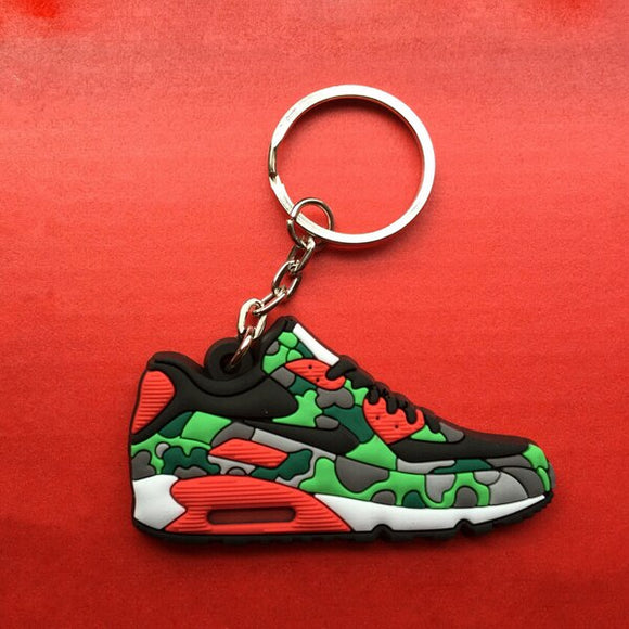 Cute Mini Silicone Airer 90 Key Chain Bag Charm Woman Key Ring Gift Sneaker Key Holder Pendant Accessories Jordan Shoes Keychain