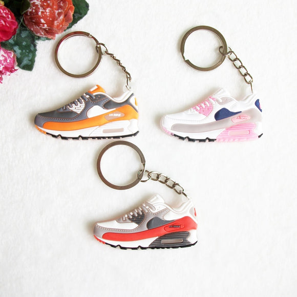 Mini Silicone Airer 90 Keychain Key Chain Jordan Shoes Sneaker Car Key Holder Woman Men Bag Charm Accessories Key Rings Pendant