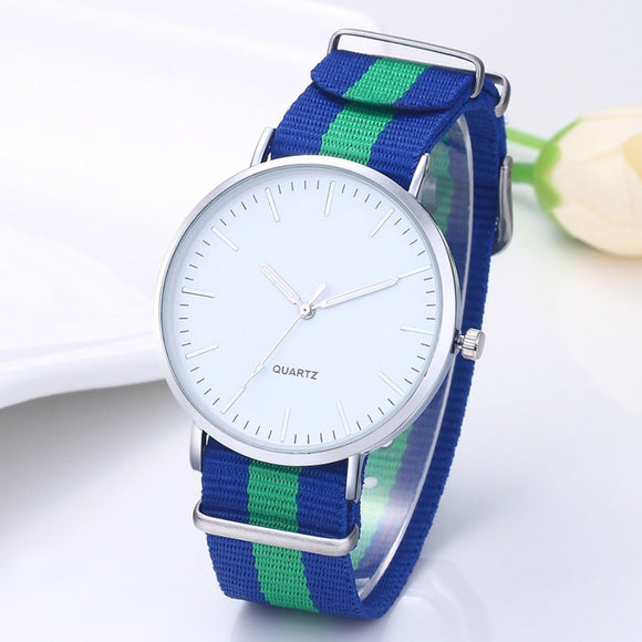 Hot Sale Fashion Nylon Strap Wrist Watch Men Watch Ultra Thin Men's Watch Men Watches Clock saat erkek kol saati reloj hombre