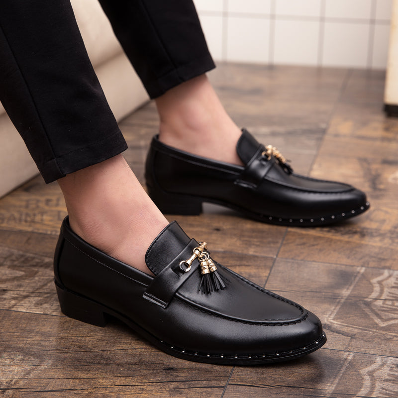 Shoes Drop Shipping Fashion Mens Tassel Office Footwear Leather Italian Formal Snake Skin Dress Shoes 2019 New Fashion Men's Shoes