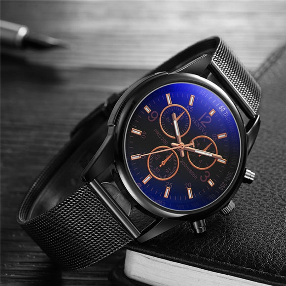 Luxury Brand Men's Watch Ultra Thin Stainless Steel Clock Male Blue Glass Sport Watch Men Watch relogio masculino reloj hombre